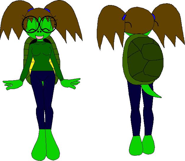 Female Mobian Turtle 1 by XxRobotChaoxX