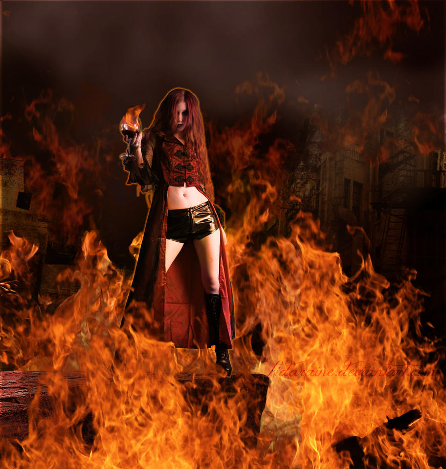 Cast in Flames by kidaraine