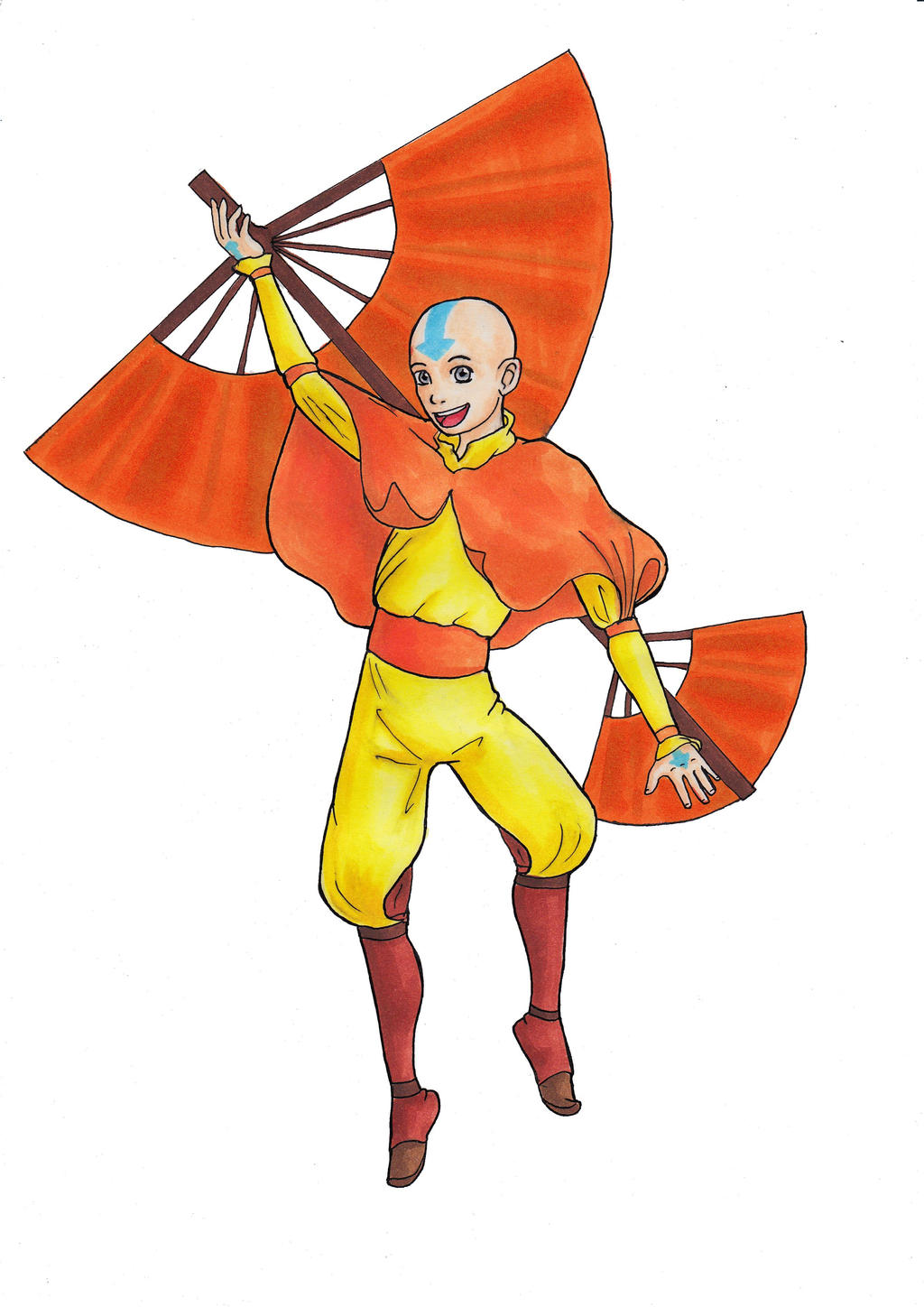 Avatar the Last Airbender - Aang by crittercat