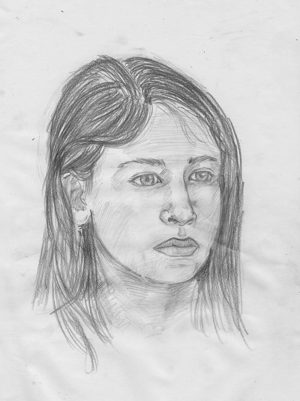 Portrait Practise 9 - Jo (2) by crittercat