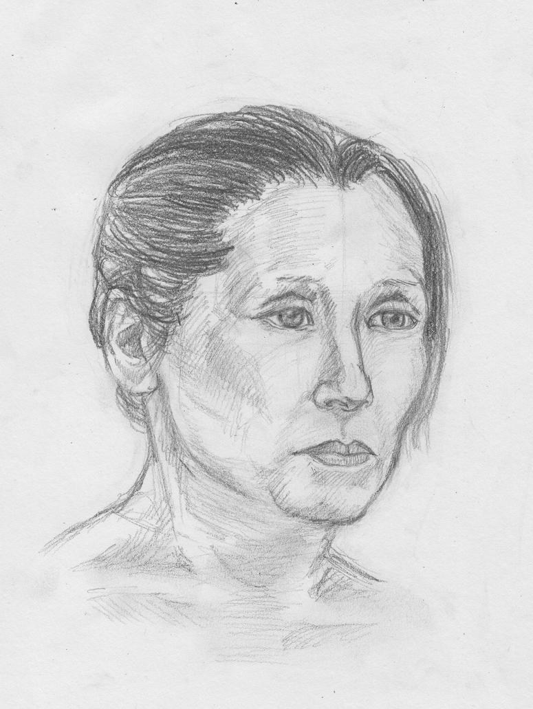 Portrait Practise 10 - Mum (4) by crittercat