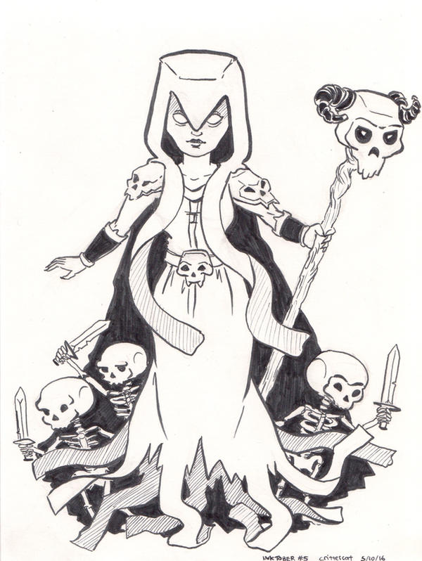 The witch clash royale inktober 2016 by crittercat