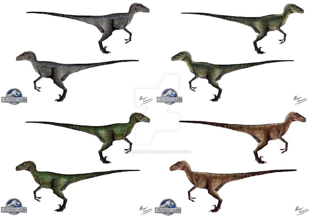 Raptor Squad-Jurassic World Velociraptors by MarkCavassa ...