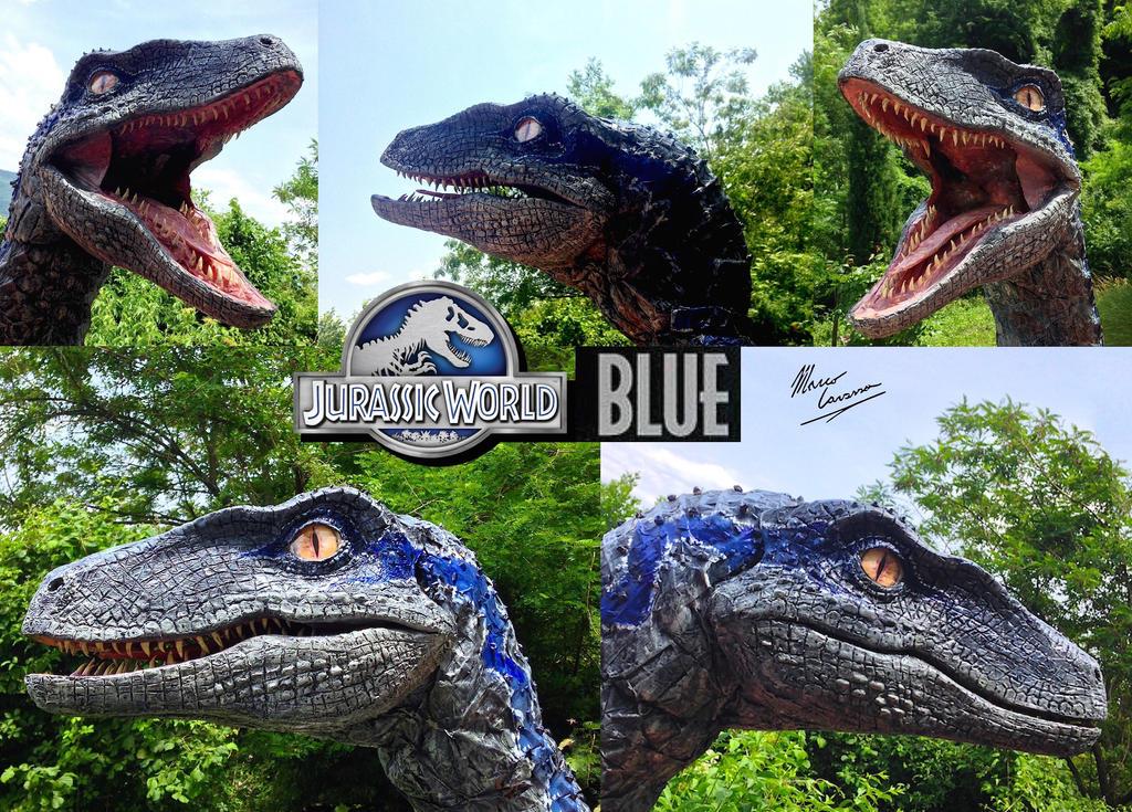 blue velociraptor jurassic world by markcavassa on deviantart