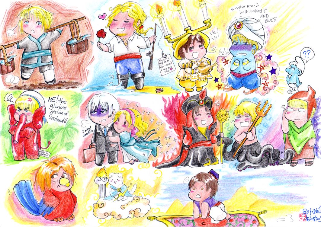 APH: Disney Chibetalia 1 by Aonabi