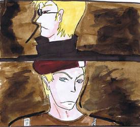 Wesker and Krauser portrait