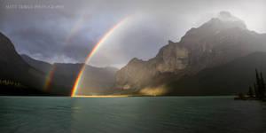 Maligne Lake Rainbow 2012