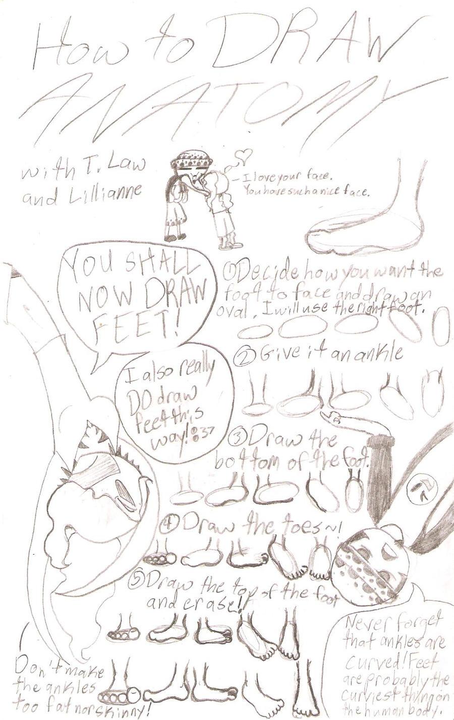 How To Draw Anatomy - Feet by Blue-Raccoon-Siren on DeviantArt