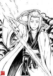 Inktober Day 27: Thunder by Ainoyu