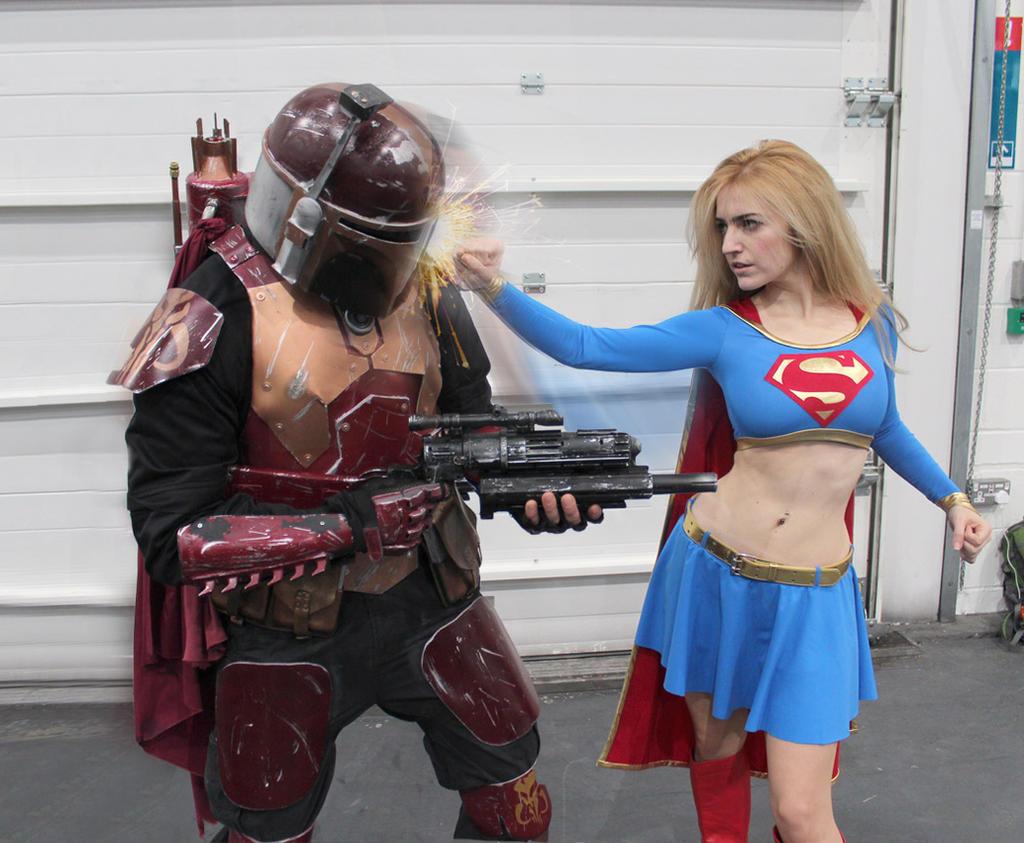 Supergirl vs. Boba Fett by chiquitita-cosplay