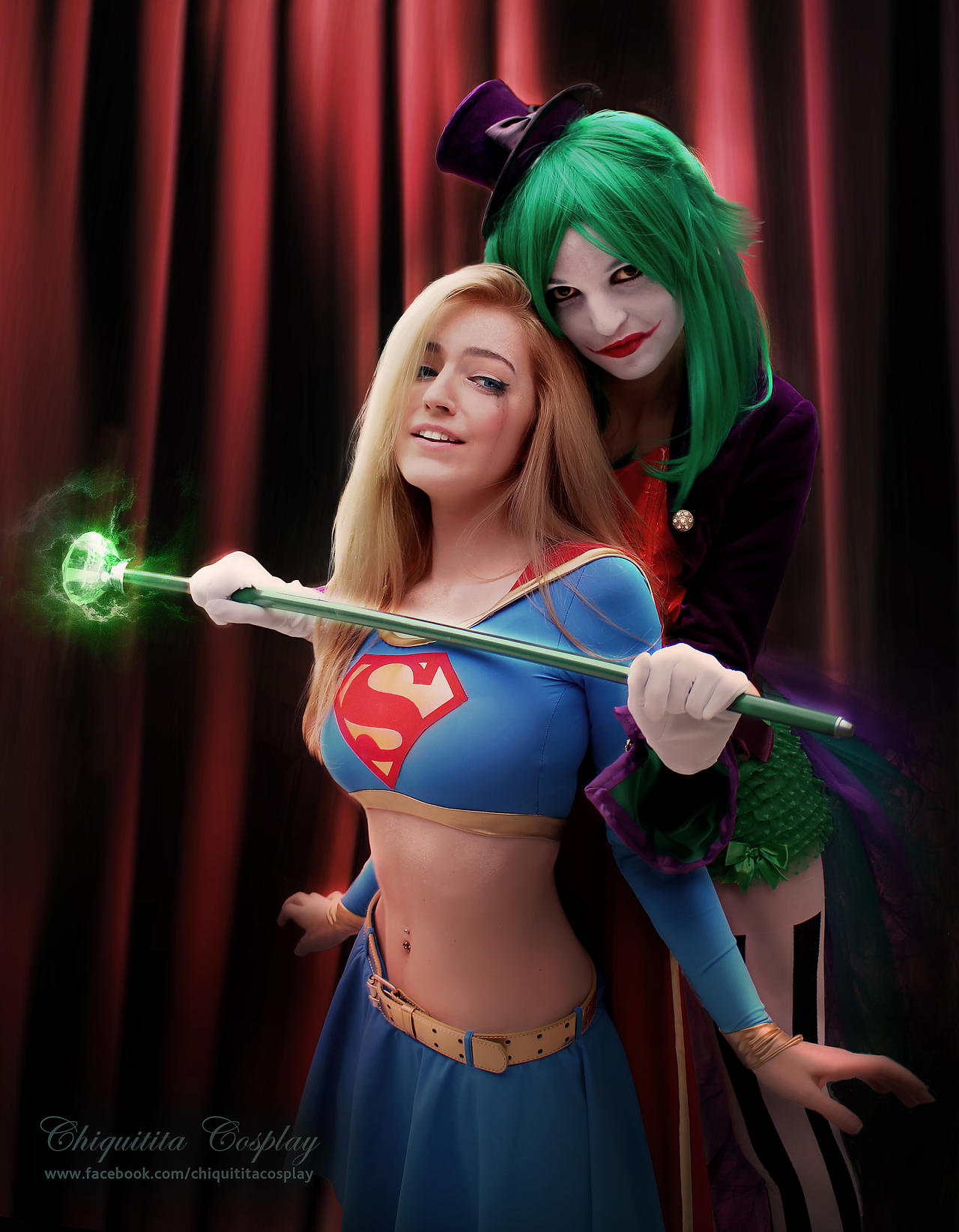 Lady Joker captures Supergirl! by chiquitita-cosplay