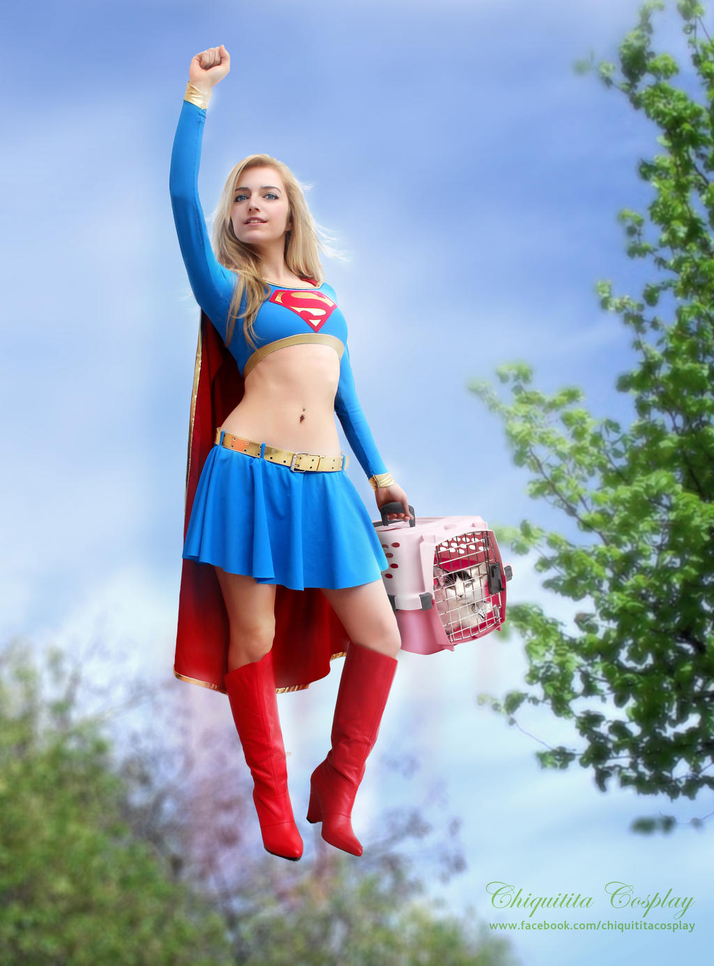 Supergirl saves a kitty cat! by chiquitita-cosplay
