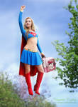 Supergirl saves a kitty cat!