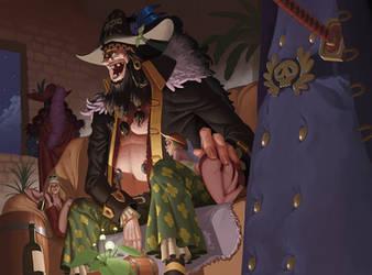 Blackbeard Yonko Fanart (One piece) by DBorod