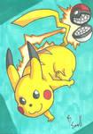 Pikachu Sketch Card