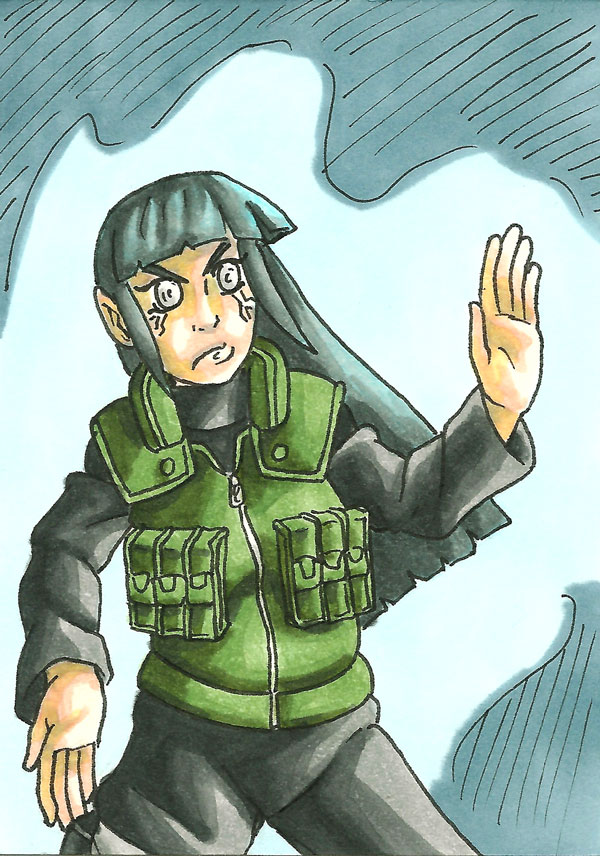 Hinata Sketch Card by ibroussardart