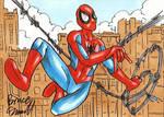 Spider-Man Swing Sketch Card