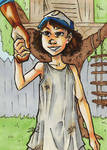 The Walking Dead Clementine Sketch Card
