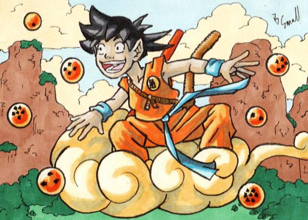 Goku Sketch Card