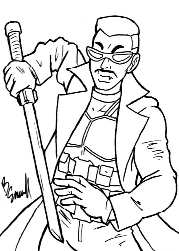 Blade Sketch Card BW