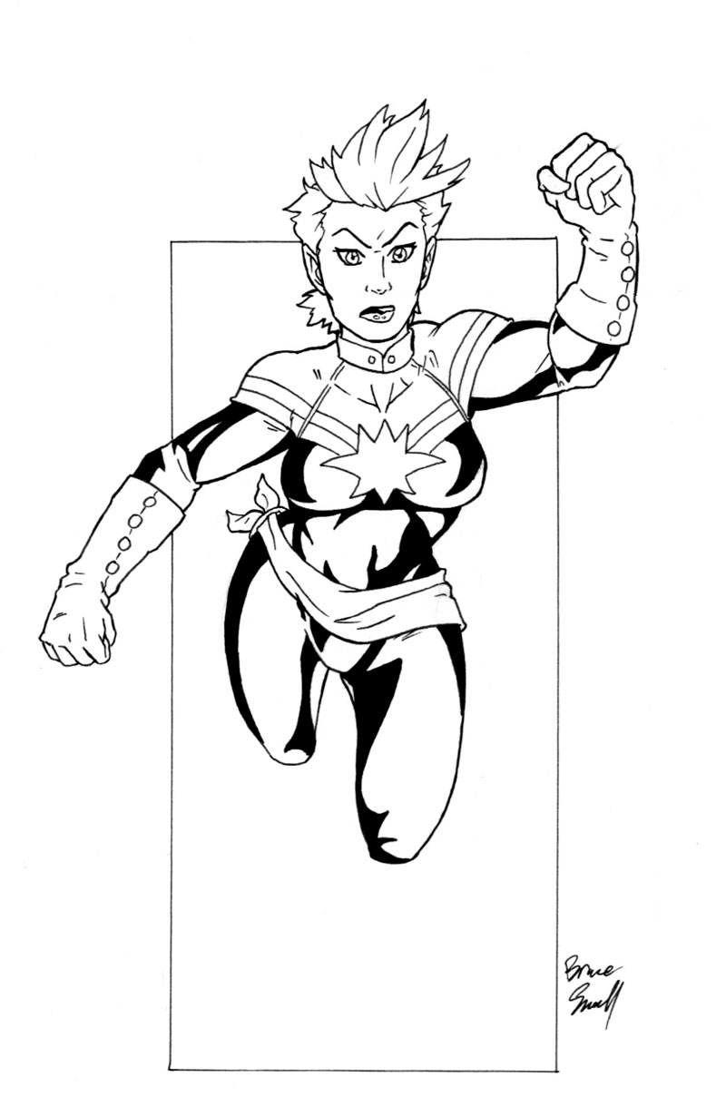 captain marvel coloring pages - photo#7