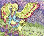 Spring Harpie by ibroussardart
