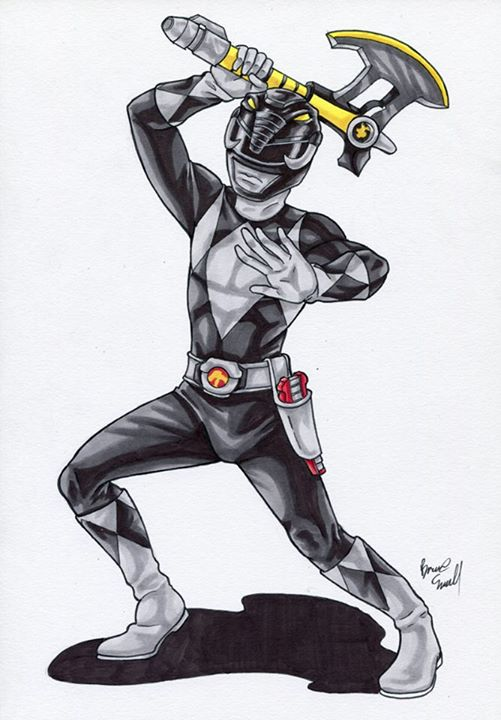 Black Ranger by ibroussardart