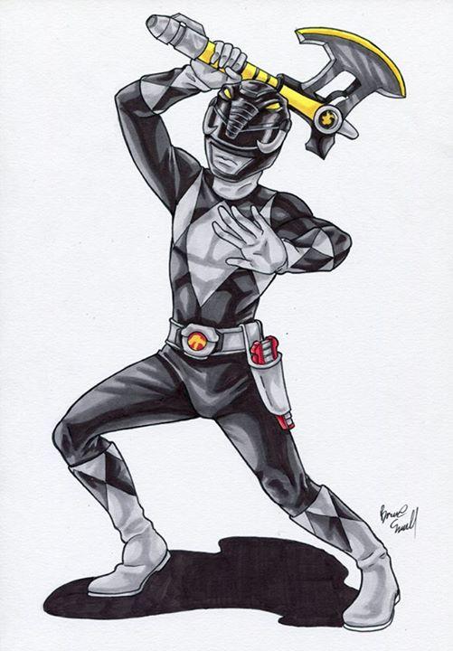 Black Ranger by ibroussardart