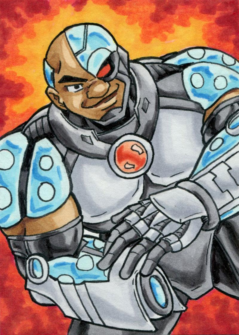 Cyborg ATC by ibroussardart