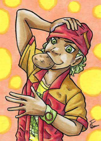 Snickerdoodle Boy ATC by ibroussardart