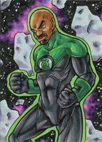 Green Lantern (John Stewart) by ibroussardart