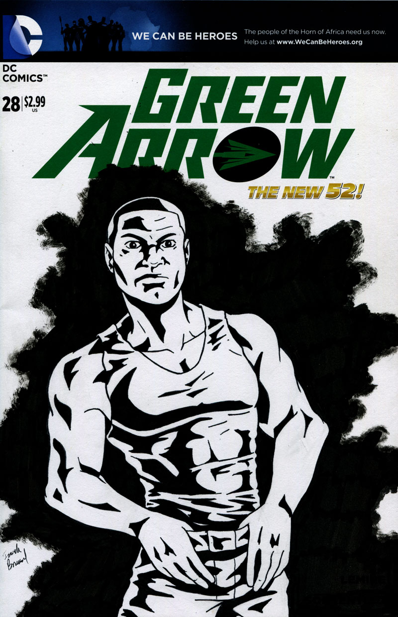 Diggle Green Arrow Sketch Cover by IsaiahBroussard