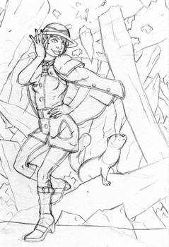 Crystal Cave Rough Sketch