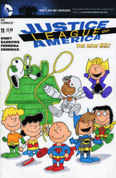 Peanuts Justice League by ibroussardart