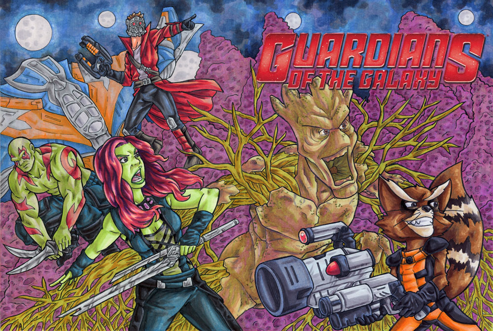Guardians of the Galaxy Sketch Cover