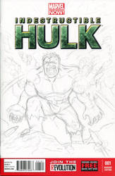 Hulk Sketch Cover Pencils