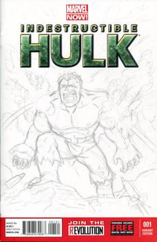 Hulk Sketch Cover Pencils