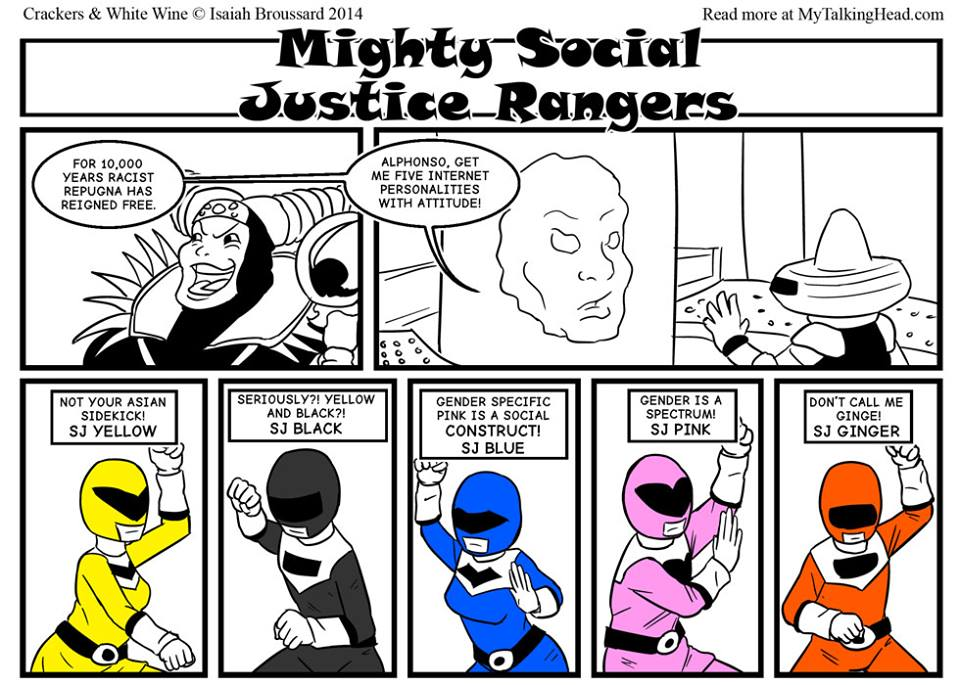 CWW: Mighty Social Justice Rangers by ibroussardart