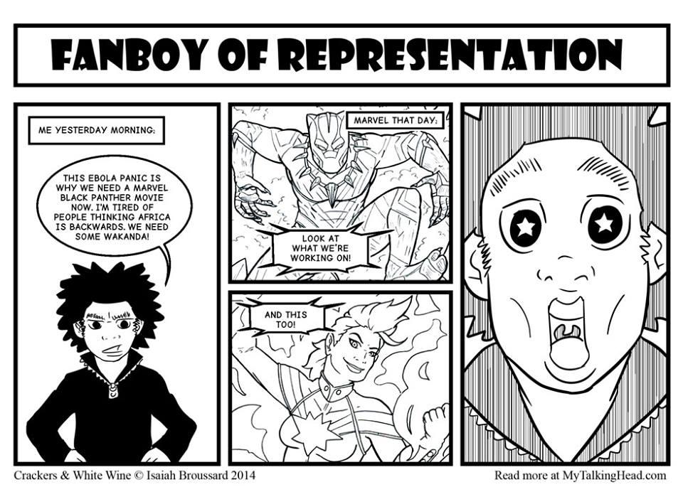 CWW: Fanboy of Representation by ibroussardart