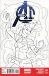 Captain Marvel Cover Inks