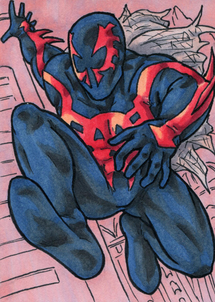Spiderman 2099 by ibroussardart
