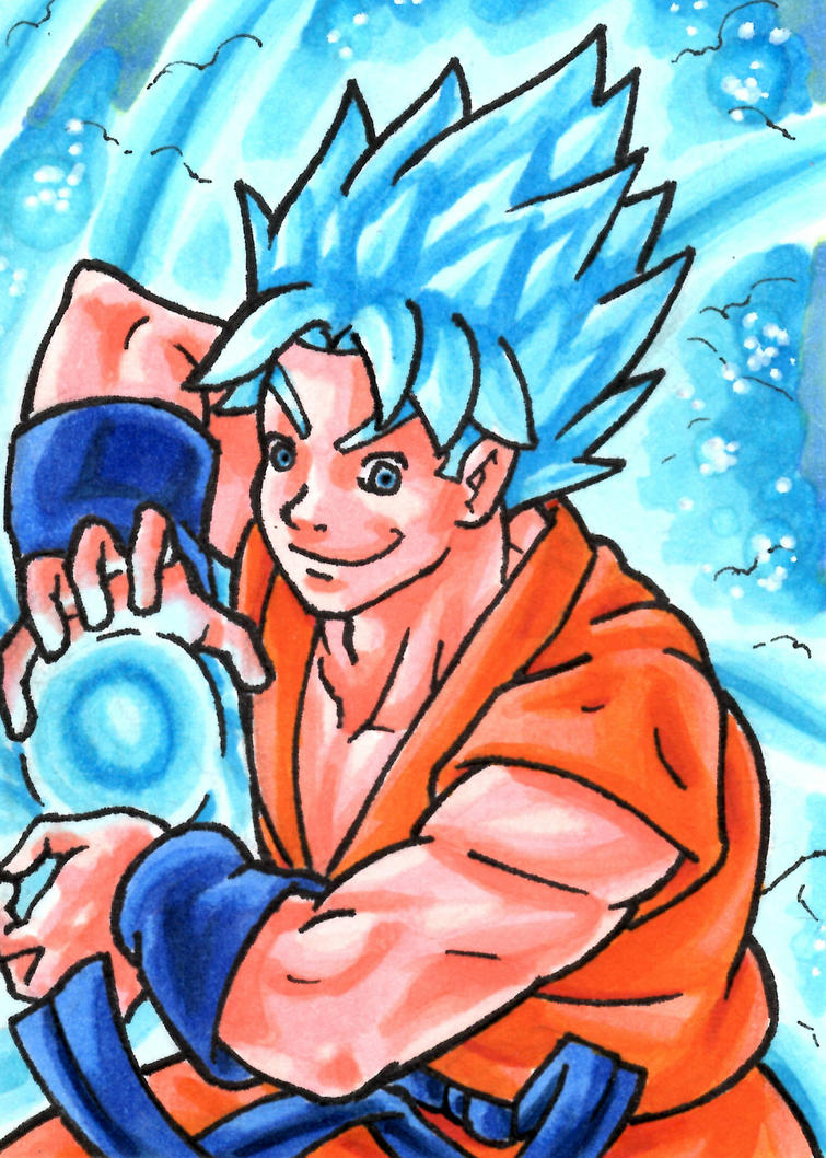 Super Saiyan Blue Goku by ibroussardart