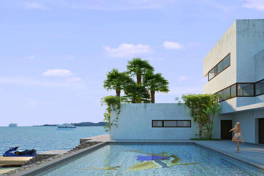 Sea View House By Arcanevsu On Deviantart