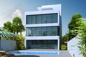 minimalist villa-day scene by ArCanEVSU