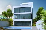 minimalist villa-day scene