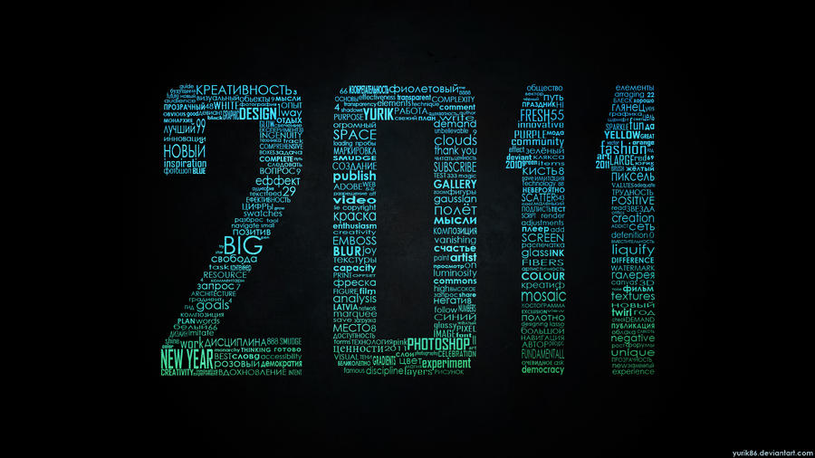 2011 Typographic wallpaper RGB by Yurik86