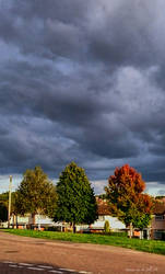 Autumn sky by JillySB
