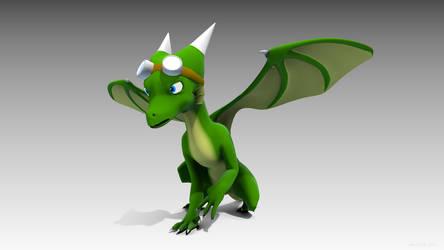 Daeva the Dragoness, in 3D again