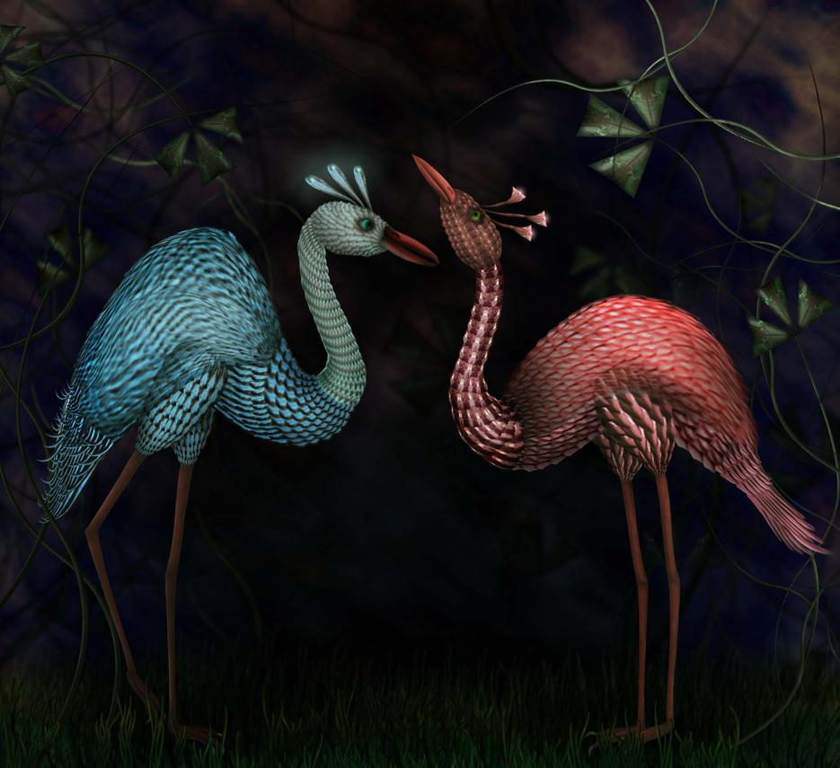 Courting Couple by CorneliaMladenova