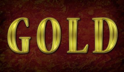 Create Ravishing Golden Text by CorneliaMladenova